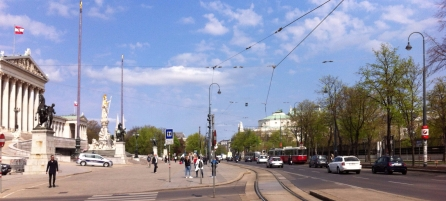 Former Imperial park, opposite the Austrian parliament on Vienna's Ring Road