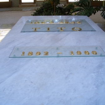 Tito's tomb in the House of Flowers