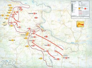 Map of vukovar siege