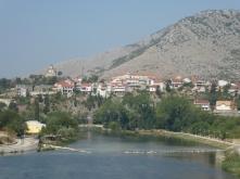 Looking back at Trebinje over the Trebišnjica River over the