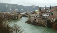 The bridge in Mostar. Now reconstructed.