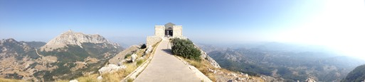 The view from the top of Mount Lovćen, as the author prepares for a meeting with inspiration.